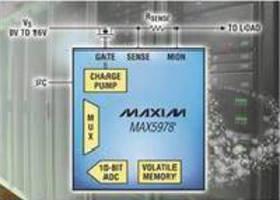 Hot-Swap Controller targets 0-16 V backplanes.