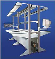 Modular Ergonomic Workstation can be supplied with conveyor.
