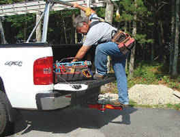 Hitch Mounted Step allows access to truck bed or SUV roof rack.