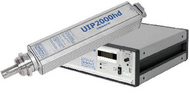 Industrial Ultrasonic Processor runs continuously at 2,000 W.