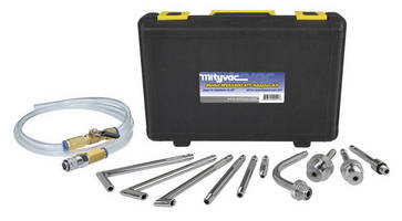 Transmission Refill Kit includes 10 adapters for flexibility.