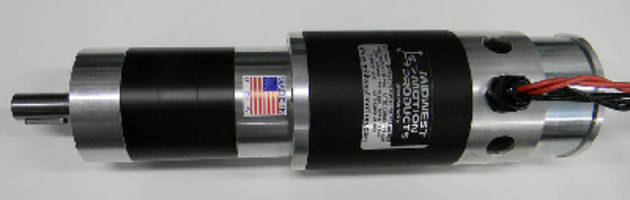 DC Gearmotor w/Brake develops 1,250 lb-in. torque at 30 rpm.