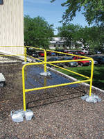 Portable Guardrail System offers passive fall protection.