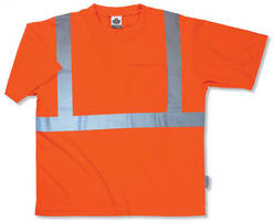 High-Visibility T-Shirt increases worker safety on job.