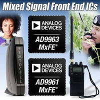 Mixed-Signal Front End ICs support wireless equipment.