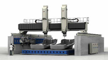 5-Axis Gantry Mill features dual spindle rams.