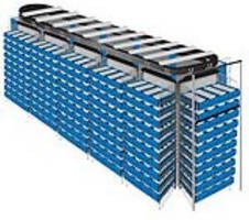 Automated Drawer Carousel maximizes parts storage density.