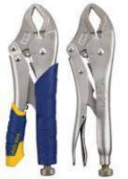 Curved-Jaw Locking Pliers offer multiple contact points on workpiece.