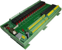 USB Relay Controller includes 24 relays and digital inputs.