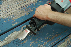 Reciprocating Saw Accessories facilitate material removal.