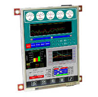 QVGA LCD Display Module features smart graphics processor.