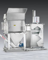 Bag Dump System features integral compactor and conveyor.