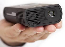 Portable Pocket-Sized Projectors enable impromptu presentations.