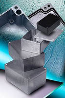 Thick Wall Die-Cast Enclosures have sealed, IP66-rated design.