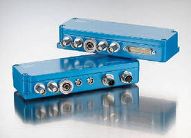Multichannel Amplifiers communicate via fieldbus connection.