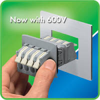 Feedthrough Terminal Block is UL-Certified to 600 V/40 A.