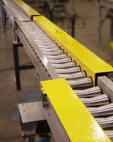 Custom Bowtie Conveyor safely handles cylindrical products.