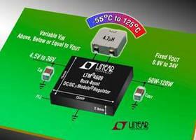 Buck-Boost DC/DC Regulator delivers 97.3 to 98.3% efficiency.