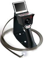Articulated Videoscope has camera tip temperature display.