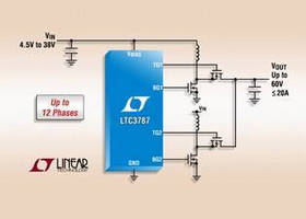 Synchronous Boost Controller eliminates need for heat sink.