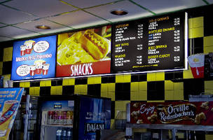 Menu Board System offers choice of T8 or LED lighting.