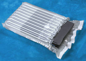 Transparent Inflatable Packaging protects fragile contents.