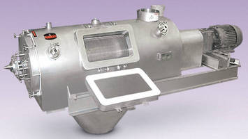 Centrifugal Screener have insulated, quick-clean design.