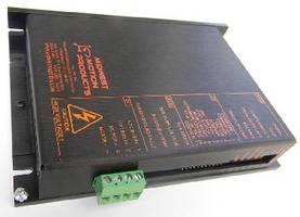 Servo Amplifier accepts 20-100 Vdc input power.