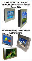 NEMA 4X (IP66) Panel Mount LCDs; Panel Mount LCD Touch Screen Computers; and Fully Enclosed Monitors, Computers, and Workstations
