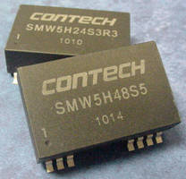 SMT 5 W DC/DC Converter offers 4:1 input, remote on/off.