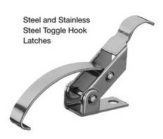 Toggle Hook Latches secure industrial components.