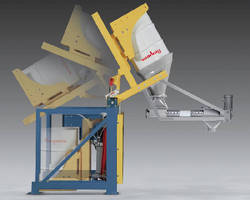 Hydraulic Drum Dump Feeder provides dust-free operation.