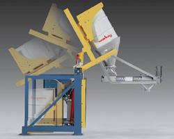 Hydraulic Drum Dump Feeder provides dust-free operation.