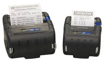 Rugged Portable Printers withstand drops from up to 1.2 m.