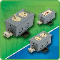 DIN-Rail Mount Outlet Boxes utilize UL 498 receptacle.