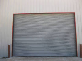 Insulated Fire Door protects openings in exterior walls.