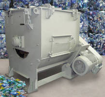 Label Removing Machine strips plastic bottles for recycling.