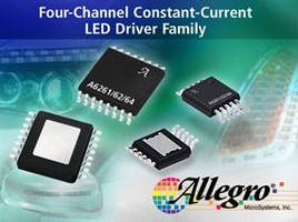 Constant Current LED Drivers suit automotive applications.