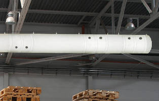 HVAC Fabric Air Dispersion System accommodates 6,000 cfm.