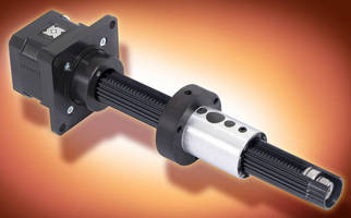 Motorized Linear Actuator combines drive, guidance functions.