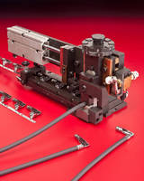 Ignition Wire Terminal Applicator processes 3,500 terminals/hr.