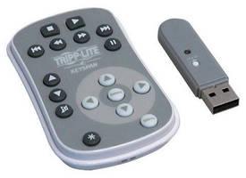 Multimedia Remote works through walls via RF technology.