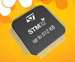 High-Density Microcontrollers feature up to 512 Kb Flash.