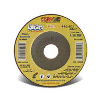 Abrasive 3-in-1 Wheels cut, grind, and finish metal.