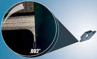 Micro Grooving Tools cut channels to human hair thicknesses.