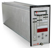 Signal Conditioner has real-time front panel level meter.