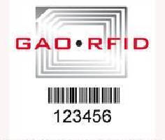 RFID Barcode Tag enables item identification and tracking.