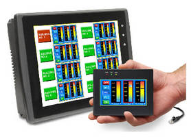 Touchscreen Graphic HMIs communicate with multiple controllers.