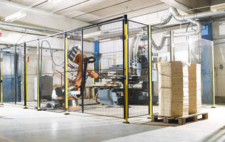 Machine Guarding Mesh Systems protect manufacturing workers.