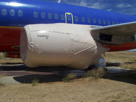 Anti-Corrosion Covers protect aircraft parts in storage.